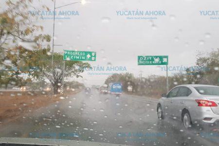 Por fin, luego de tanto anunciarla, cae la lluvia en Mérida