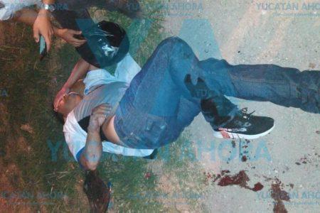 Motociclista herido al atropellar una piedra