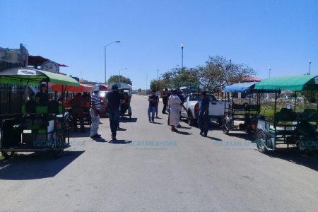 Se calientan los ánimos de mototaxistas en Umán
