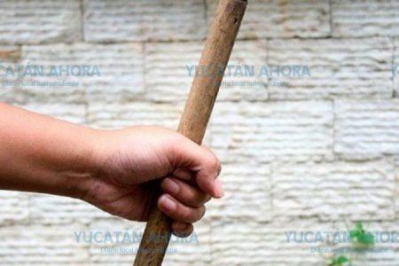 Hasta un palo de escoba utilizó contra su mujer