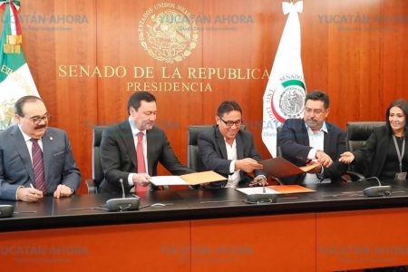 Firman FENAM y Ramírez Marin convenio que llevará salud a municipios de Yucatán