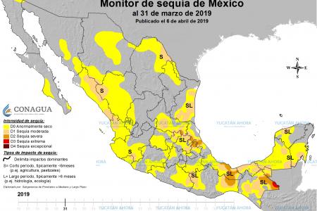 Frentes fríos hacen retroceder la sequía en Yucatán