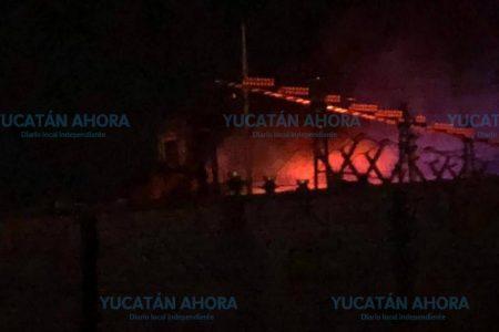 Se quema subestación de la CFE en Ciudad Caucel