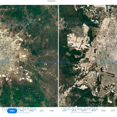 Así ha crecido Mérida en los últimos 35 años, a costa de las áreas verdes