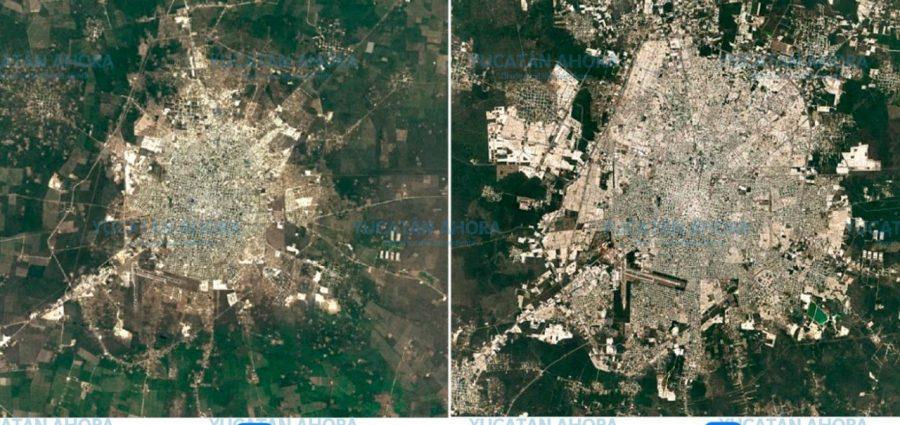 Así ha crecido Mérida en los últimos 35 años, a costa de las áreas verdes –  Yucatan Ahora