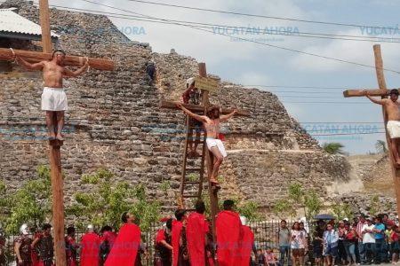 Cumple 38 años vía crucis viviente de Acanceh
