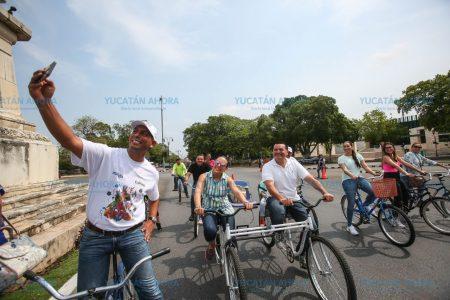Con rally en la Bici-ruta concluye la Semana de la Niñez en Mérida