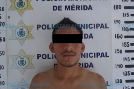 Detienen a atrevido ladrón en el centro de Mérida