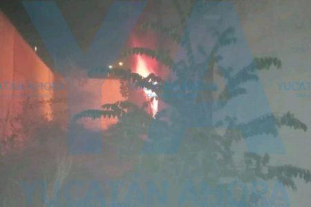Madrugador incendio en casa deshabitada