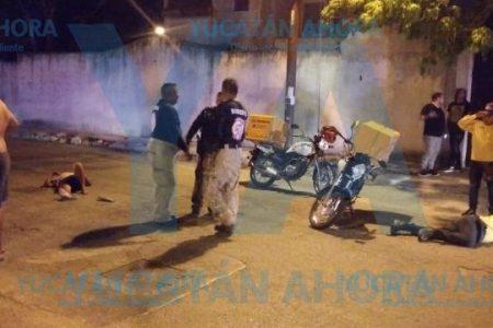 Ciclista y motociclista 'giran' como trompos tras chocar