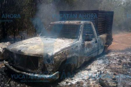 Se le quema la camioneta del patrón