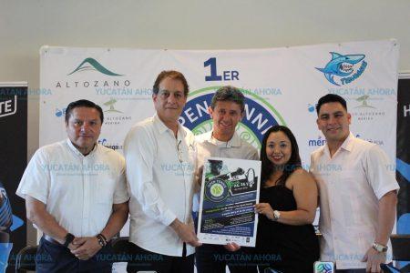 Presentan I edición del Open Tenis Yucatán