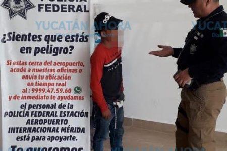 Rescatan a menor mexiquense abandonado en Mérida