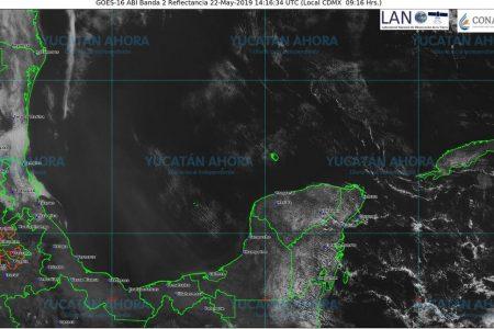 Miércoles de 40 grados y lluvia solo en el sur de Yucatán