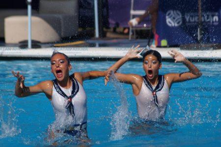 Se baña de oro el nado sincronizado de Yucatán