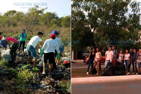 Jóvenes ponen manos en acción para tener un Yucatán más limpio