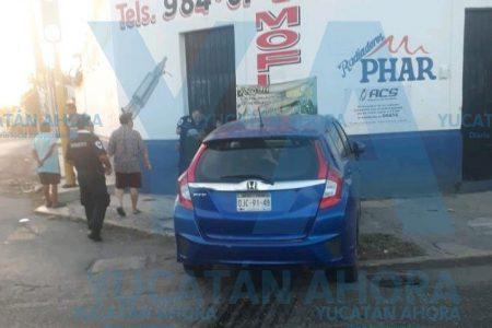 Conductora de Campeche propicia carambola en la Itzaes
