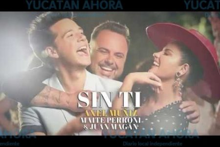 Axel Muñiz, Maite Perroni y Juan Magán graban video en Yucatán