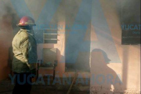 Mañanero incendio en Manzana 115