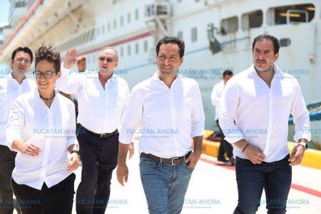 Empieza a llegar a Progreso crucero de 'grandes ligas'