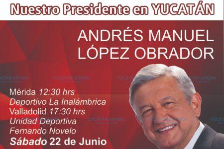 Mañana, nueva gira de AMLO por Yucatán