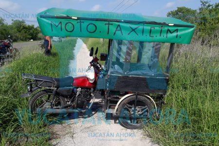 Pasajera 'traqueteada' tras volcadura de mototaxi