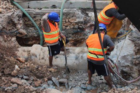 Sin contratiempos reparación de mega fuga de agua en Mérida