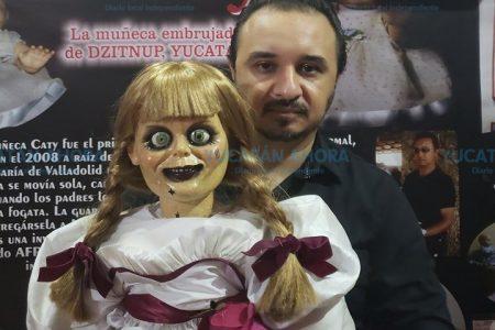'Anabelle' realiza espeluznante promoción en Mérida