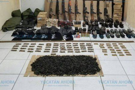 Los detienen con droga y un arsenal de armas prohibidas
