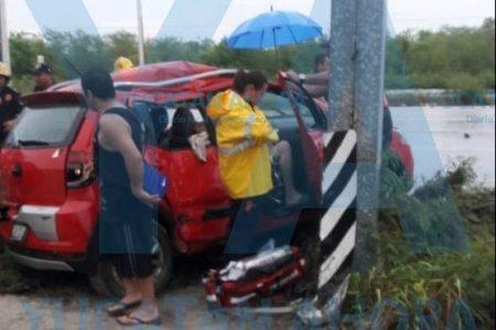 Distraído conductor deja con lesiones a dos turistas capitalinos