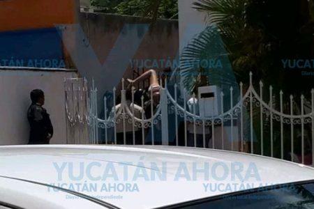 Jovencita se ensarta en una reja en Francisco de Montejo