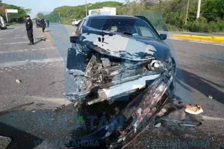 Mañanero encontronazo en la carretera Mérida-Valladolid