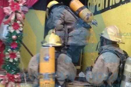 La fuga de gas cloro, en un local particular, no del mercado