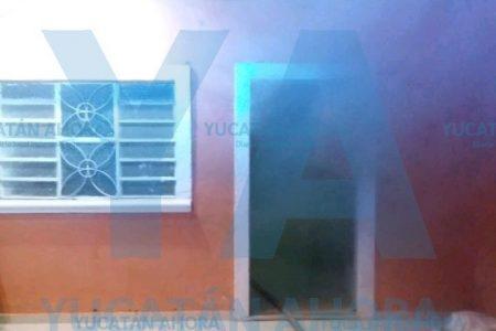 Incendio en casa de abuelitos, en el centro de Mérida