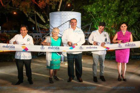 Inauguran monumento al locutor en el parque de la colonia México