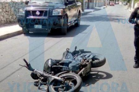 Choque de motos en Caucel: dos lesionados