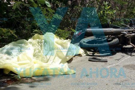 Motociclista alcoholizado muere al instante tras derrapar