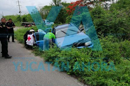 Accidente en pareja: una lesionada