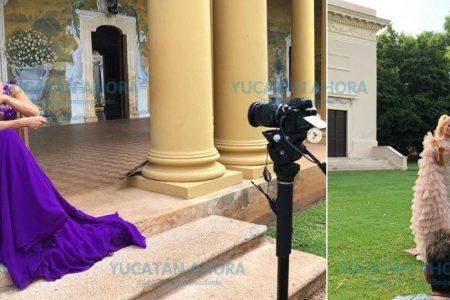 Yuri y Natalia Jiménez graban video en Yucatán