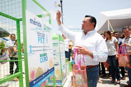 Instalan en Mérida máquinas que te pagan por depositar tu basura