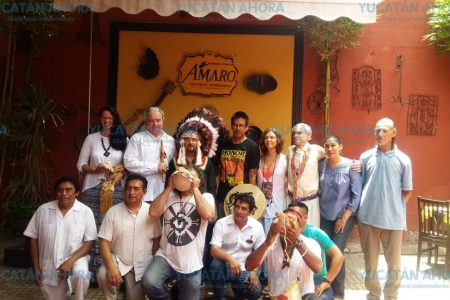 Fuego sagrado une a nativos de Dakota y mayas de Yucatán