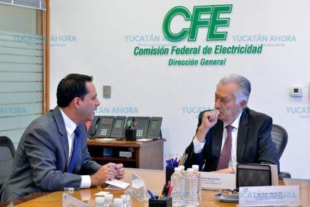 Mauricio Vila se reúne con el director de la CFE, Manuel Bartlett