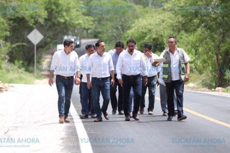 Invierten 140 millones de pesos para construir carreteras de verdad