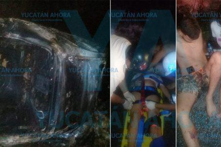 Imprudencia vacacional: conductor ebrio vuelca con su familia y acaban en el hospital
