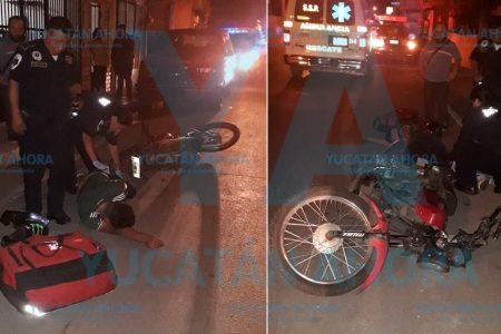 Por manejar ebrio su moto, joven derrapa y se fractura una pierna