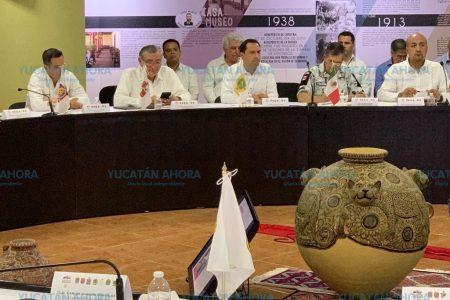 Mauricio Vila asiste a reunión de Estrategia de Seguridad y Migración de la Zona Sur- Sureste