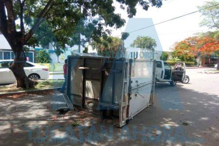 Árbol le 'arranca' la caja de su camioneta