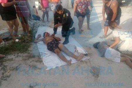 Vuelca cuatrimoto en Chelem: un joven y dos niños heridos