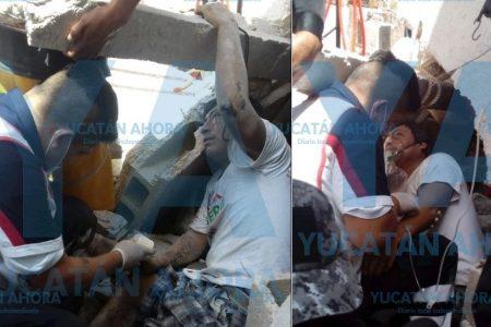 Joven trabajador sepultado tras derrumbe en un lavadero