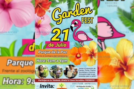 Realizarán el primer Garden Fest en el Parque de la Paz